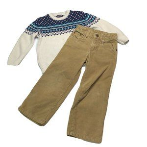 Cherokee Sweater Gap Corduroy Pants Set Boys 4T
